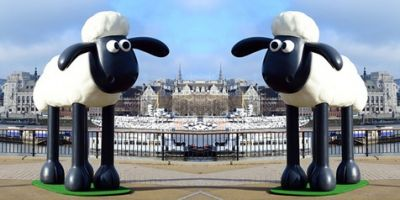 Promos Film, Patung-patung Shaun The Sheep Kunjungi London
